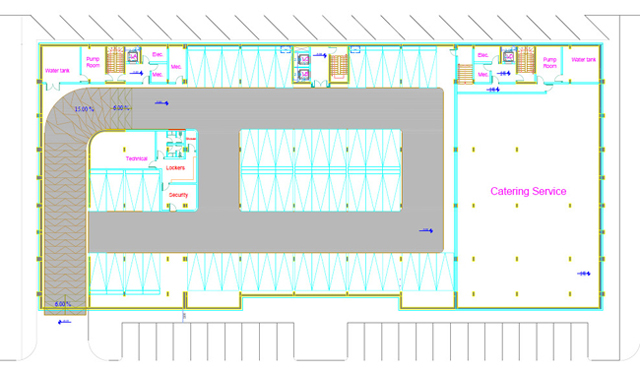 Erbil Dream City Plaza 2 - basement floor plan
