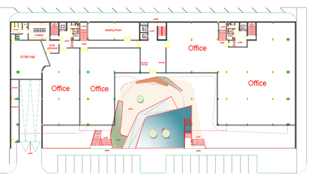 Erbil Dream City Plaza 2 - lower ground floor plan